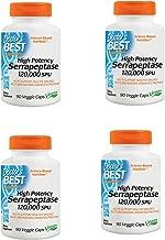 High Potency Serrapeptase, Non-GMO, Gluten Free, Vegan, Supports Healthy Sinuses, 120,000 SPU, 90 Veggie Caps