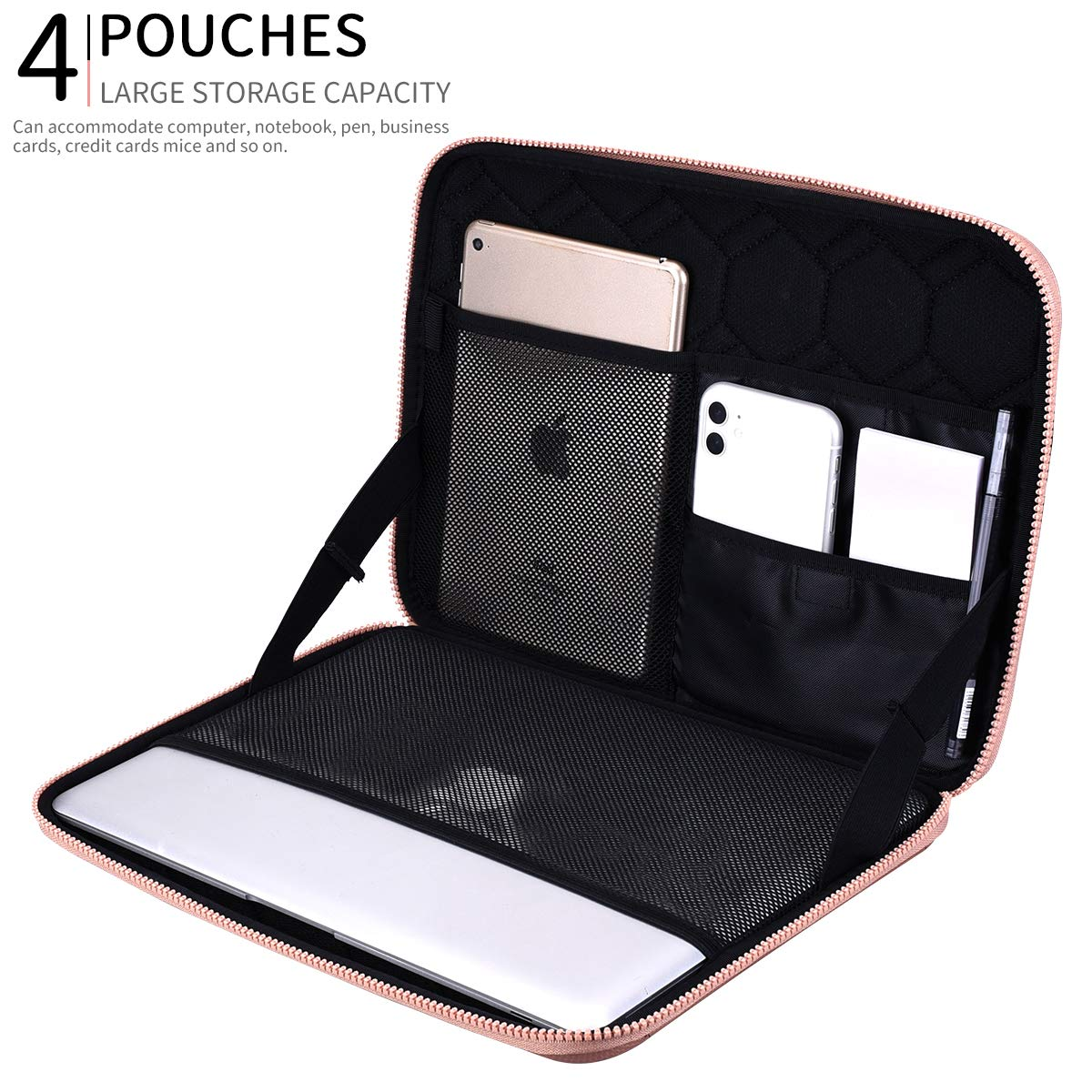 Black Microsoft Surface SUPGEAR Laptop Sleeve Case for 13-13.3 Inch Notebook Notebook Shockproof Waterproof Computer Bag Protective Compatible for MacBook Pro Chromebook MacBook Air