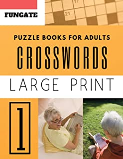 Crossword Puzzle Books for Adults: Fungate Word Game Easy Quiz Books for Beginners (crossword puzzle books easy large print)