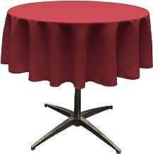 LA Linen Tablcloth Polyester Poplin Tablecloth 58-Inch Round, Cranberry