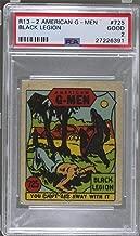 Black Legion PSA GRADED 2 (Trading Card) 1930s American G-Men Crime Does Not Pay - R13-2 #725