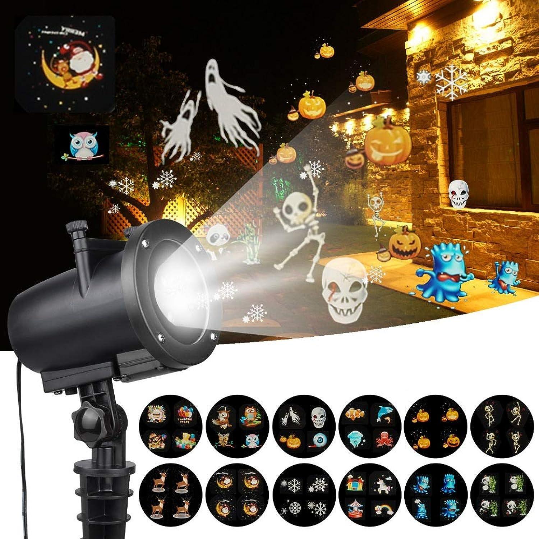 YLOVOW LED-Weihnachts-Anime-Musterprojektor IP65-Halloween-Projektor Mit 12 Umschaltbaren Dias