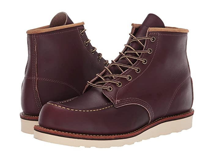 Men's Vintage Workwear – 1920s, 1930s, 1940s, 1950s Red Wing Heritage 6 Moc Toe Oxblood Mesa Mens Lace-up Boots $279.99 AT vintagedancer.com