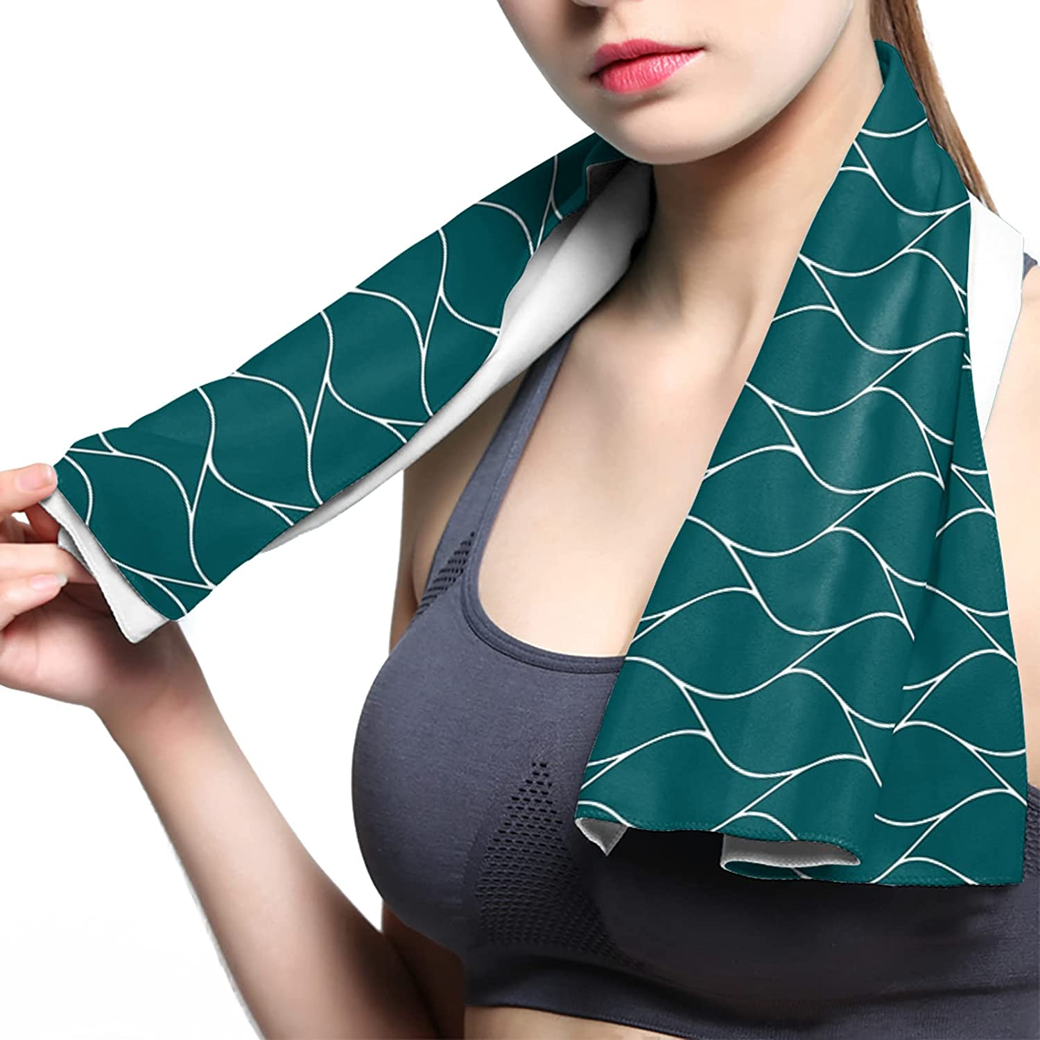 ArneCase Cooling Towel Breathable Turqu Towels Microfiber Chilly Max 87% OFF Super sale period limited