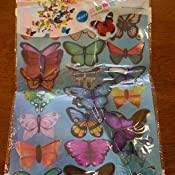 Sunfar 19 Pcs 3D Butterfly Wall Sticker with Double-Sided Adhesive Tape for Bedroom and Living Room SK002