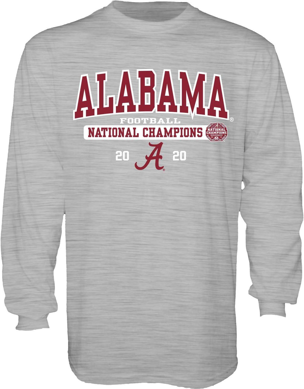Blue84 NCAA mens Alabama Crimson Tide National Champs T Shirt 2020-2021 Schedule