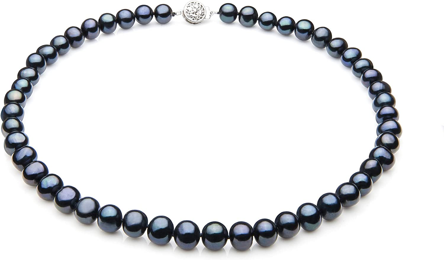 Single Import Black 7-8mm A Quality Detroit Mall Freshwater Sterling Silver Cult 925