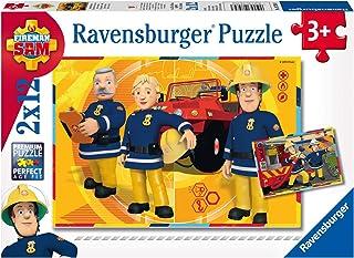 Ravensburger 07584-2x12 bitar Barnpussel från 3 år - Brandman Sam - Brandman Sam - en rolig aktivitet för familjen och barnen