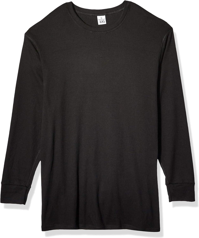 Men's USA Classic Design Fleece Lined Base Layer Performance Top Long Sleeve Shirts
