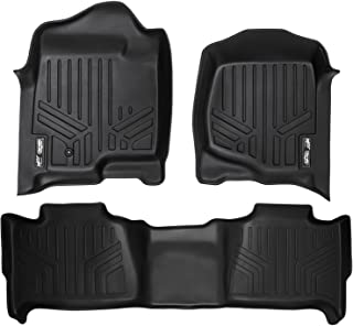 MAXLINER Floor Mats 2 Row Liner Set Black for 2007-2014 Tahoe/Suburban/Yukon/Yukon XL/Denali (No Hybrid Models)