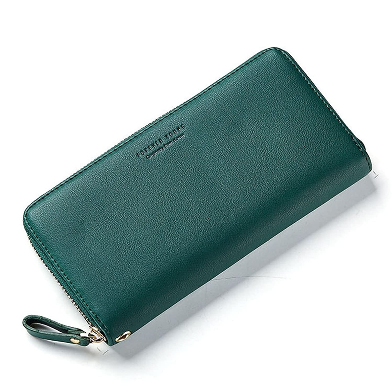 [テンカ]財布 レディース がま口 長財布 大容量 小銭入れ おしゃれ 可愛い カード入れ 多機能 ウォレット 人気 収納 PU ストラップ付き 使いやすい プレゼント
