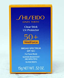 Shiseido Clear Stick UV Protector WetForce SPF 50 for Unisex 0.52 oz Sunscreen