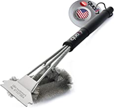 QUALLY UNITED Grill Brush and Scraper - USA Trademark - Safe to Use, Best BBQ Brush for All Types of Grills, Gas, Charcoal, Porcelain, Infrared, Weber - A Must Have 18