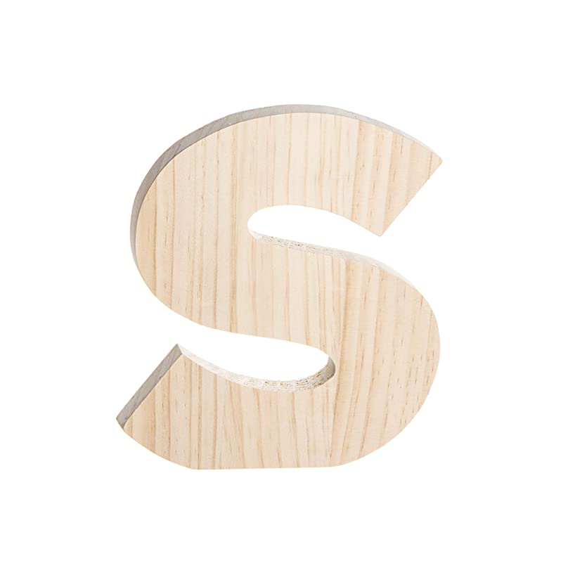 Darice 30051968 Unfinished Wood Letter S: 8 x 8 inches