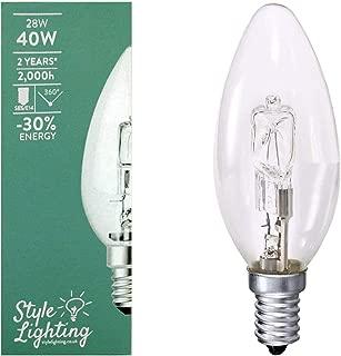 Sacs de Marque Halogène Économie D/'Énergie Ampoule Bougie 18w = 25w 28w=40w 42w