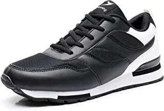MAFEKE Men's Running Tennis Shoes Fashion Sneakers Lace Up Non-Slip Gym Athletic Sports Shoes US8.5 Black