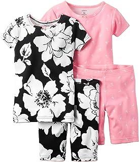 カーターズ Carter's パジャマ キッズ子供服 半袖 綿リブ100% 4点セット 4-Piece Snug Fit Cotton PJs 5T (105-112cm)