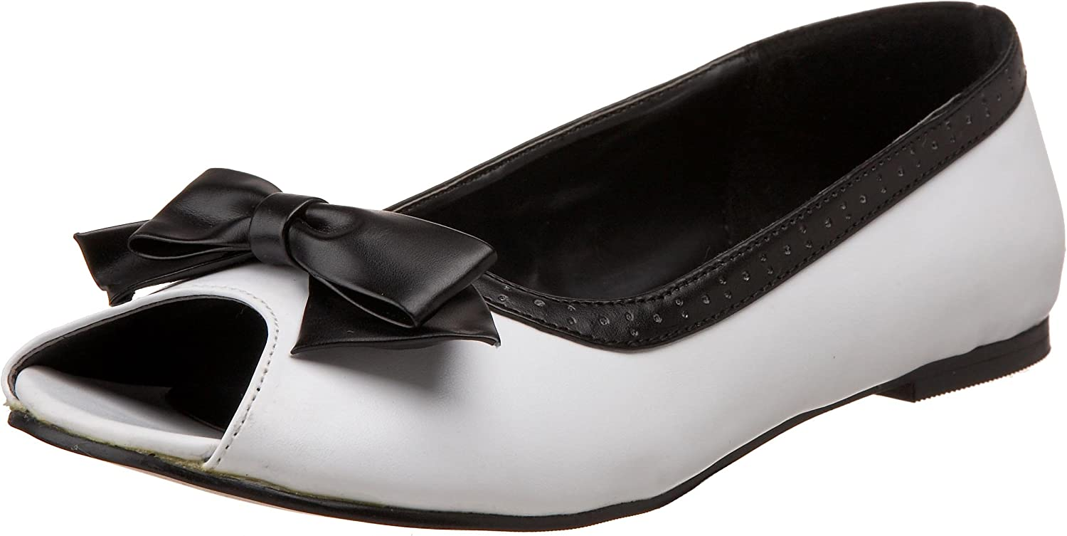Pleaser Demonia Women's Daisy-64 Flat White