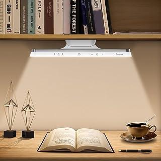 Baseus Lampe de Bureau 42LED Lumière Magnetique, Tactile Dimmable 3 Modes Luminosité et Couleur réglables, Sans fil Rechar...