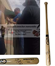 Will Clark SF San Francisco Giants Autographed Hand Signed Rawlings Big Stick Full Size Baseball Bat with Nickname Inscription and Exact Proof Photo of Signing, COA, St. Louis Cardinals, Texas Rangers