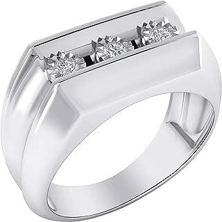Trillion Jewels 925-Sterling Sterling-Silver Round-Shape I-J Diamond