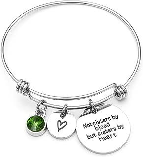 Best Friends Bracelets- Not Sisters by Blood But Sisters by Heart Bracelet- Sister Jewelry