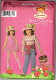 UNCUT & OOP SIMPLICITY 4776 STRAWBERRY SHORTCAKE CHILDREN'S COSTUME SIZE: A (3,4,5,6,7,8) SEWING PATTERN