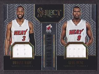 2014-15 Select Double Team Jersey #13 Dwyane Wade/Luol Deng 049/149 Miami Heat