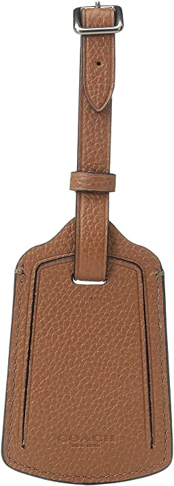 COACH - Refined Pebbled Luggage Tag