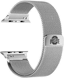 Ohio State Buckeyes Stainless Steel Band Compatible with The Apple Watch - 38mm/40mm