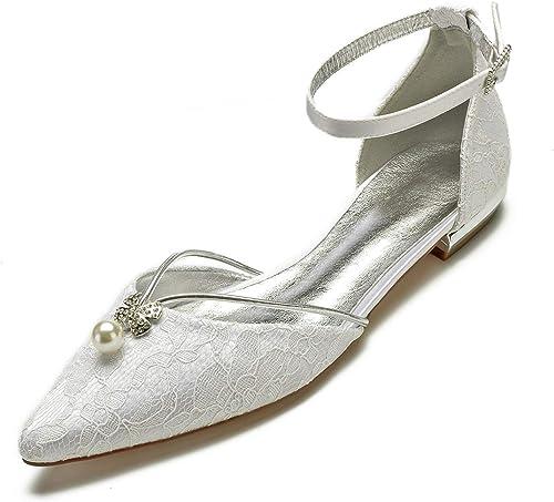 Eleoulck Femmes Chaussures de de de Mariage Bout fermé Mode soirée Boucle Ivoire Plateforme mi (36-43 Taille) 8d7