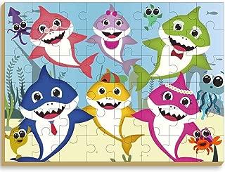 Quebra-Cabeça Club Shark Gigante 48 Peças, Brincadeira de Criança, Multicor