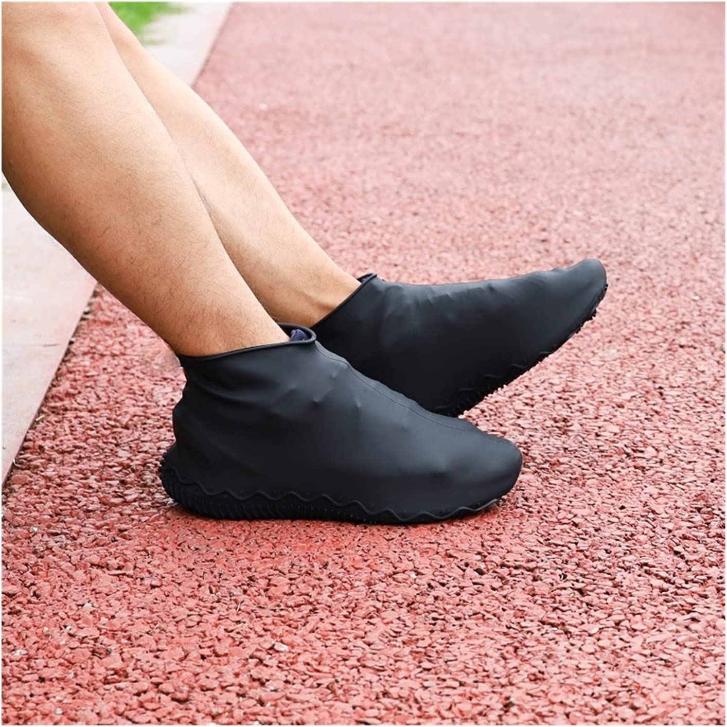 ZQDMBH Shoes Albuquerque Mall Cover Thicken Silicone Fort Worth Mall Shoe Waterproof C Boots Rain