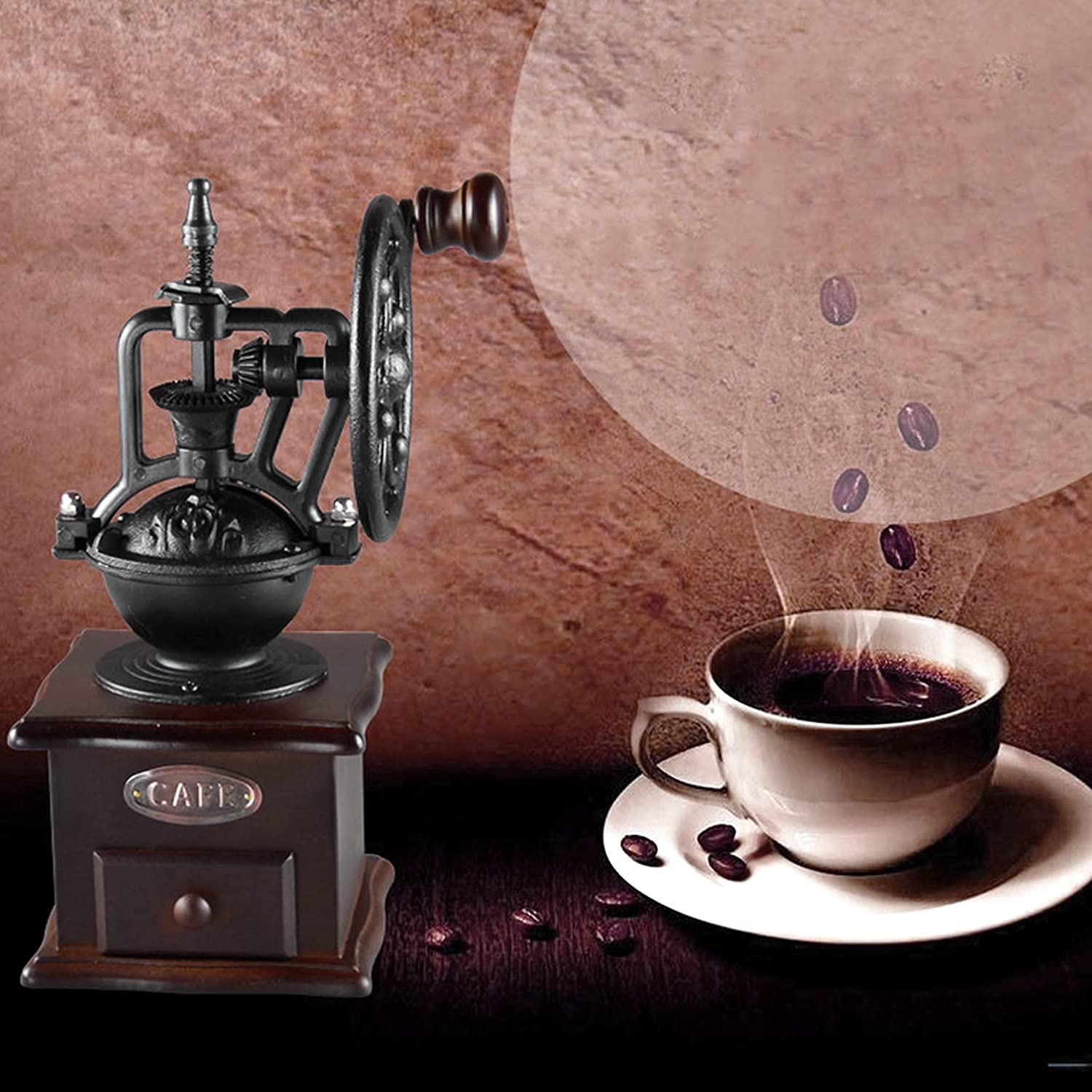 5 ☆ popular Manual Coffee Grinder Vintage Style Max 78% OFF Co Wooden Hand