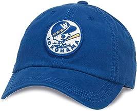 American Needle New Timer NPB Japanese Central League Baseball Cap, Yokohama Whales, Royal (42777A-YOW)