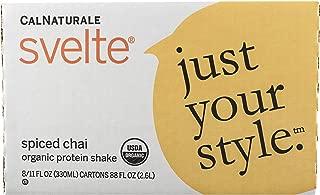 Svelte Organic Protein Shake, Spiced Chai, 11 Fl Oz (Pack of 8)