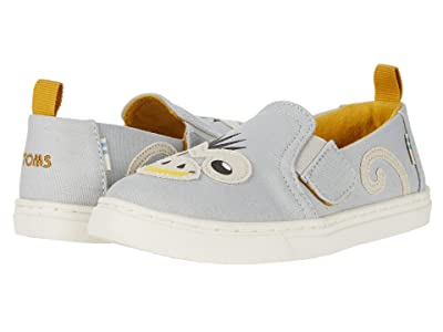TOMS Kids Luca (Toddler/Little Kid) (Glacier Grey Canvas/Monkey Applique) Kid