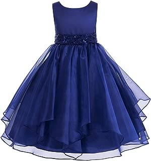 ekidsbridal Asymmetric Ruffled Organza Formal Flower Girl Dress Prom Night Dresses 012