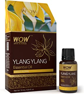 WOW Ylang Ylang Essential Oil - Boost Mood, Balance, Meditation - Natural Aromatherapy To Reduce Bedroom Anxiety - Sweet Calm & Pleasant Scent - 100% Pure Therapeutic Grade Oil (Undiluted) - 10 mL