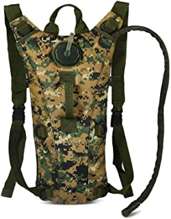 3L Hydration Backpack Water Bag Durable Lightweight for Outdoor Camouflage