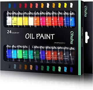 Ohuhu Oil Paint Set, 24 Oil-Based Colors, Artists Paints Oil Painting Set, 12ml x 24 Tubes - Back to School Art Supplies