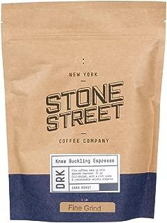 KNEE BUCKLING ESPRESSO High Caffeine | Fine Grind Coffee | 1 LB Bag | Extra Strong | Medium Dark Roast | Bold & Balanced Intense Flavor | Ground Fresh | 100% Arabica