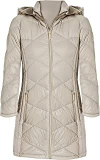 Michael Michael Kors Women's Taupe 3/4 Down Hooded Packable Coat (S)