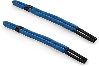 GoGrip 2 Cordons pour Lunettes Extra r/ésistant Bleu Fonc/é
