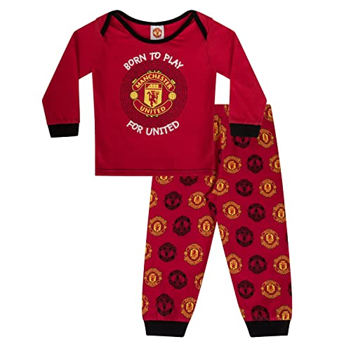 4cca291de68 Manchester United FC Official Football Gift Boys Kids Baby Pyjamas Red