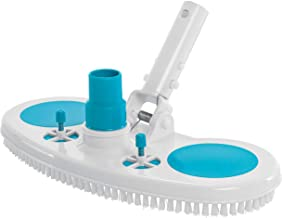 "U.S. Pool Supply 13"" Weighted Pool Vacuum Head with Nylon Bristles, Swivel Hose Connection, EZ Clip Handle - Connect 1-1/4"" or 1-1/2"" Hose - Removes Debris, Cleans Floors - Safe for Vinyl Lined Pools"