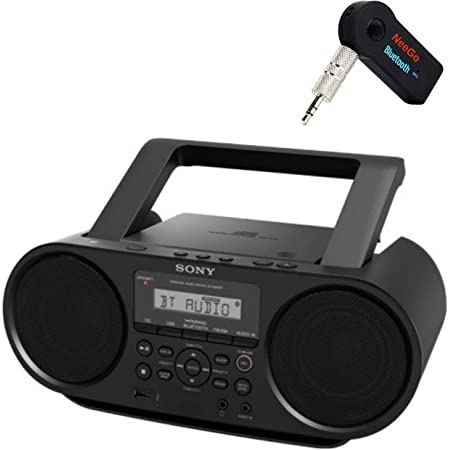 Sony Bluetooth Portable Cd Player Stereo Sound System Bundle/Digital Tuner AM/FM Radio Cd Player Mega Bass Reflex Stereo Sound System Included A NeeGo Wireless Bluetooth Receiver