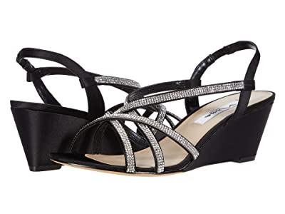 Nina Nadette (Black Luster Satin) Women