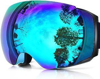 eb1922b309 Zionor X4 Ski Snowboard Snow Goggles Magnet Dual Layers Lens Spherical  Design Anti-Fog UV