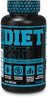 Diet XT Weight Loss Supplement - Caffeine Free Body Recomposition Agent, Fat Burner & Muscle Builder - Glucose Control & Mood Support w/KSM-66, Berberine, Chromax & More - 60 Keto Diet Pills